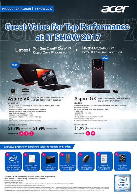 Acer   page 1 Brochures from IT Show 2017 Singapore on Tech Show Portal   HardwareZone.com.sg