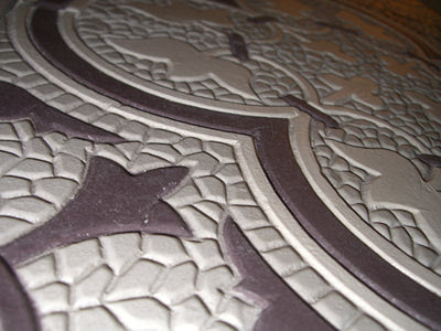 Close-up of Roseton Relief Tile
