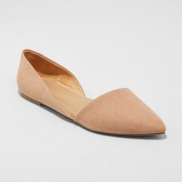 Women's Poppy d'Orsay Flat Pointed Toe Ballet Flats - Merona™