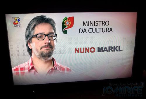 """Notícia TVI: António Costa """"indicado"""" para primeiro-ministro e escolhe Nuno Markl para Ministro da Cultura para o XXI Governo Constitucional de Portugal"""