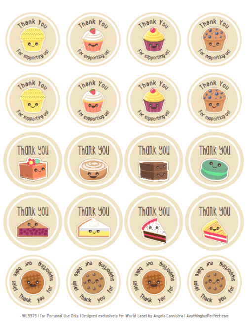 Download Bake Sale Printable Labels Set   Worldlabel Blog