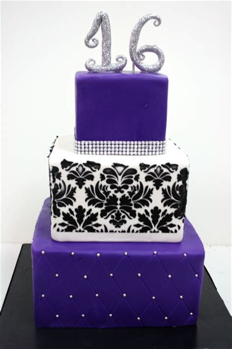 Sweet 16 Cakes NJ   Glitter Custom Cakes