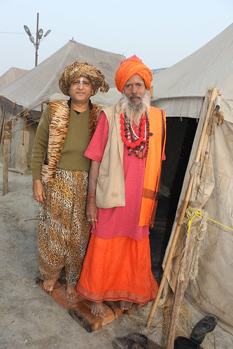 The Beggar Poet And The Naga Guru Of Juna Akhada by firoze shakir photographerno1