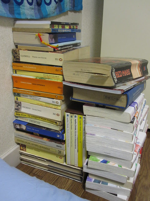 Book corner side view