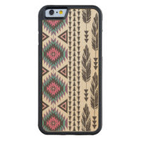 Tribal Spirit Maple Wood iPhone 6 Case Carved Maple iPhone 6 Bumper