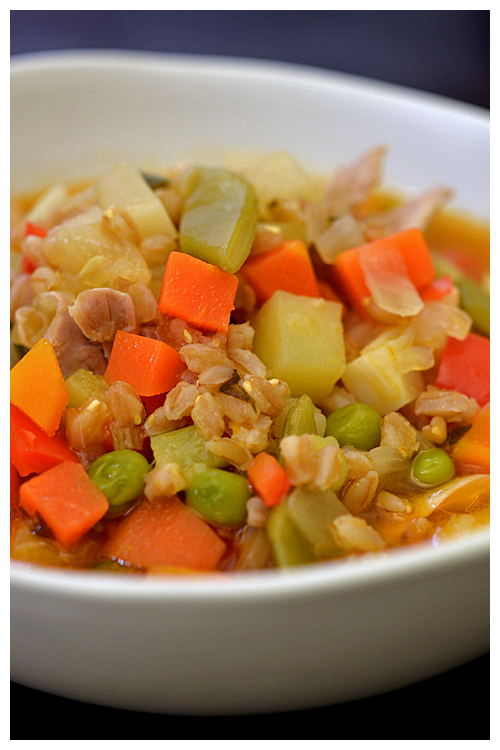 Pearled Farro, Chicken and Vegetable Soup© by Haalo
