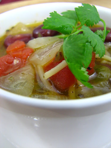 Mexican Fideo Soup with Beans