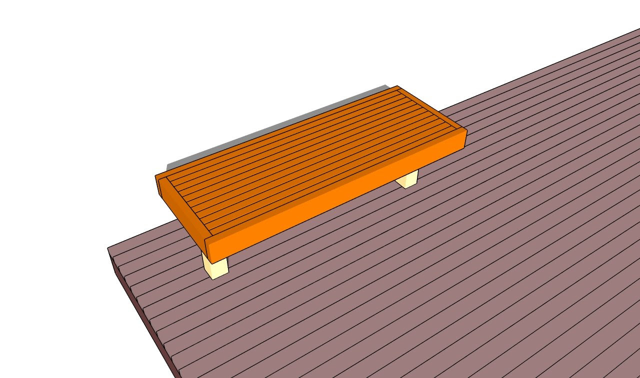 Deck Bench Plans | Free Outdoor Plans - DIY Shed, Wooden Playhouse ...