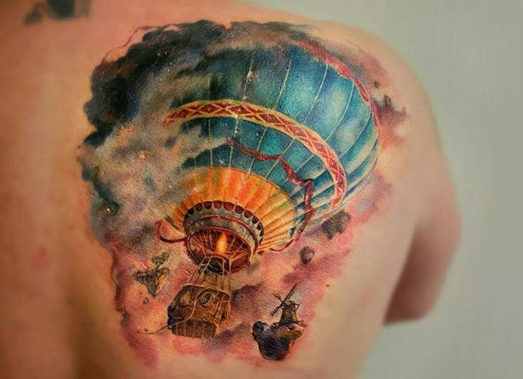24 Hot Air Balloon Tattoos With Uplifting Meanings Tattoos Win