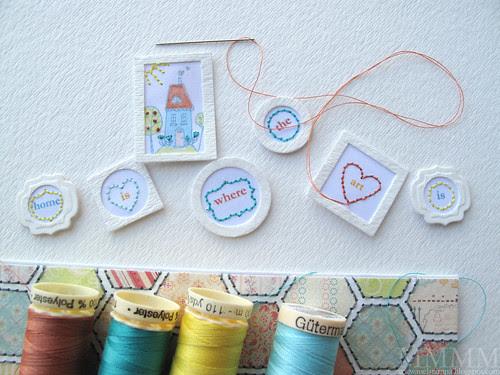 16) Add stitching to the art