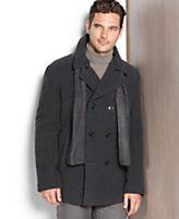 Kenneth Cole Coat, Wool-Blend Peacoat