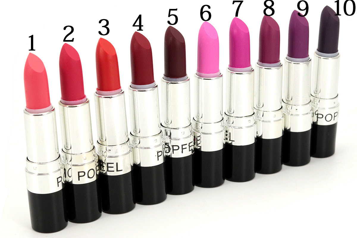 Resultado de imagen para 20 Colors Lip Nude Bright Stik Vampire Black Purple Lipstick Exaggerated Color Makeup Cosmetic