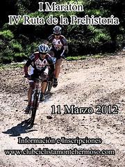Cartel I Maratón & IV Ruta de la Prehistoria 2012