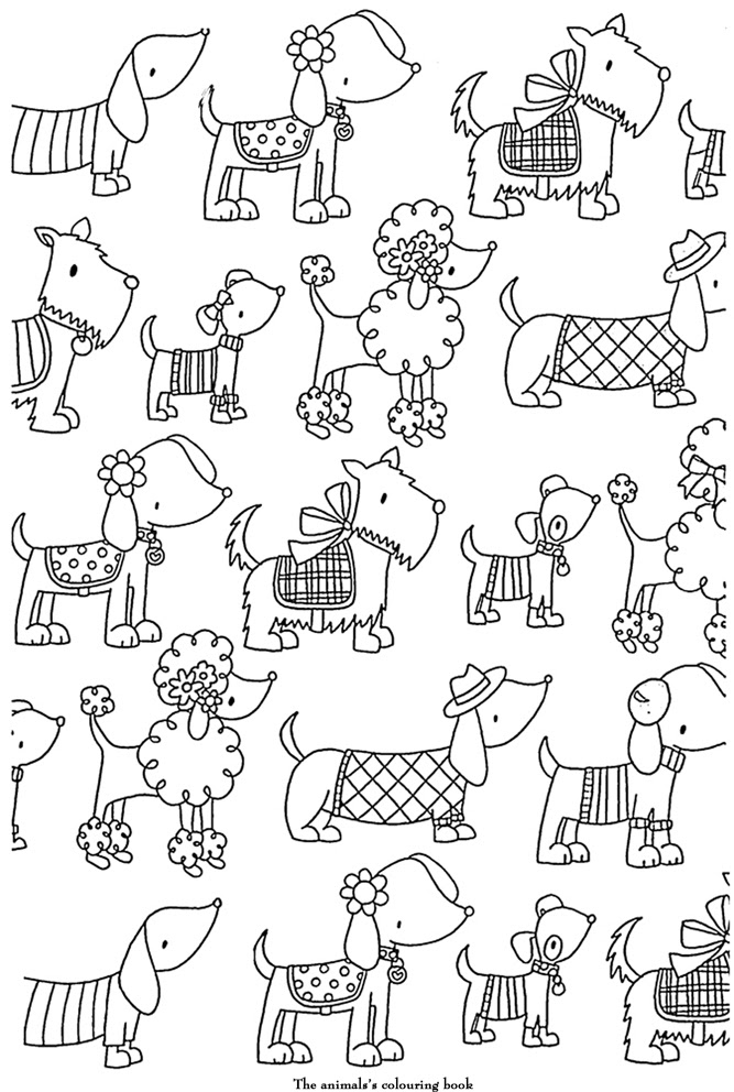 Coloriage Adulte Art Therapie Les Chiens à Colorier