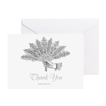 Victorian Fan Thank You Greeting Cards (Pk of 10)