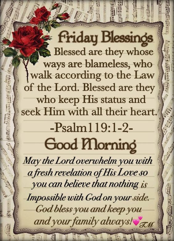 Friday Blessing Scripture Good Morning Pictures Photos And Images