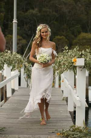 Tasha gets married barefoot!   Home and Away   Wedding
