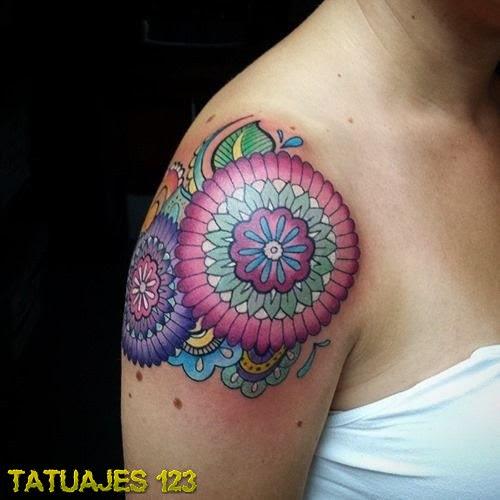 Mandala En El Hombro Tatuajes 123