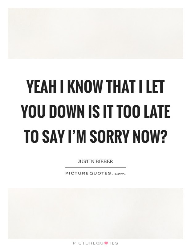 Im Sorry I Let You Down Quotes T Shirt Design 2018