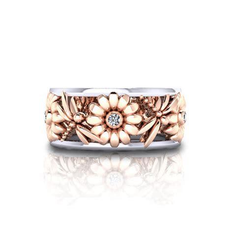 Daisy Dragonfly Wedding Ring   Jewelry Designs