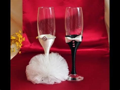 Wedding Glasses Decoration Ideas   How To Decorate Wedding