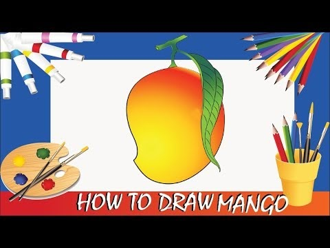How To Draw A Mango Poster Color