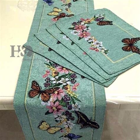 7Pcs/lot Vine Butterfly Country Style Wedding Bed Table