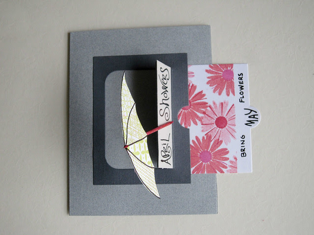 April Showers and Flowers PTI Sliders Die Card