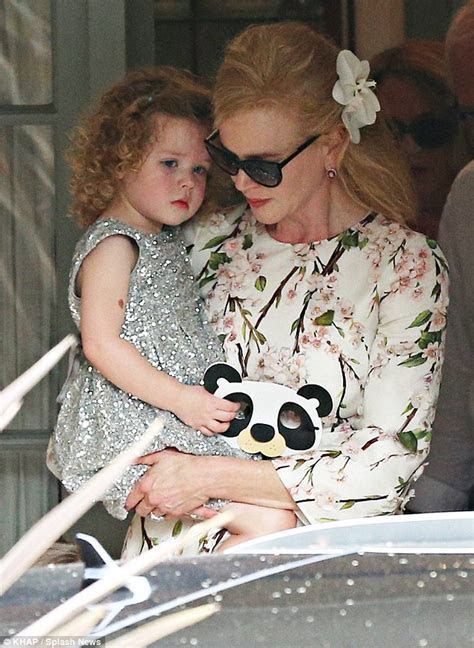 Nicole Kidman is pretty in floral frock at her parents