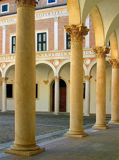 Urbino, Palazzo Ducale, courtyard