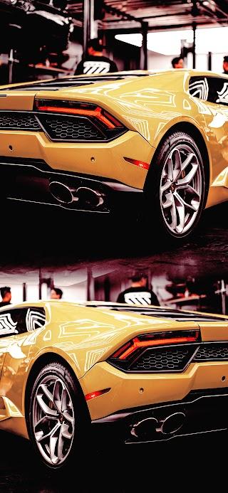 Cool yellow Huracan Lamborghini car wallpaper