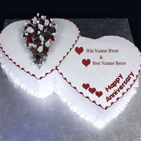 happy wedding anniversary wishes cake with name for