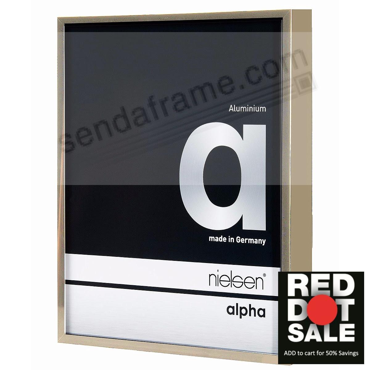 Alpha Metallic Brushed Gold 8x10 Frame By Nielsen Picture Frames