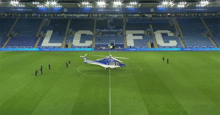 Το ελικόπτερο λίγο πριν απογειωθεί για την μοιραία πτήση