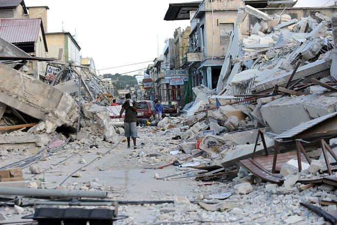 Imagen de archivo de la destrucción de Haití tras el terremoto