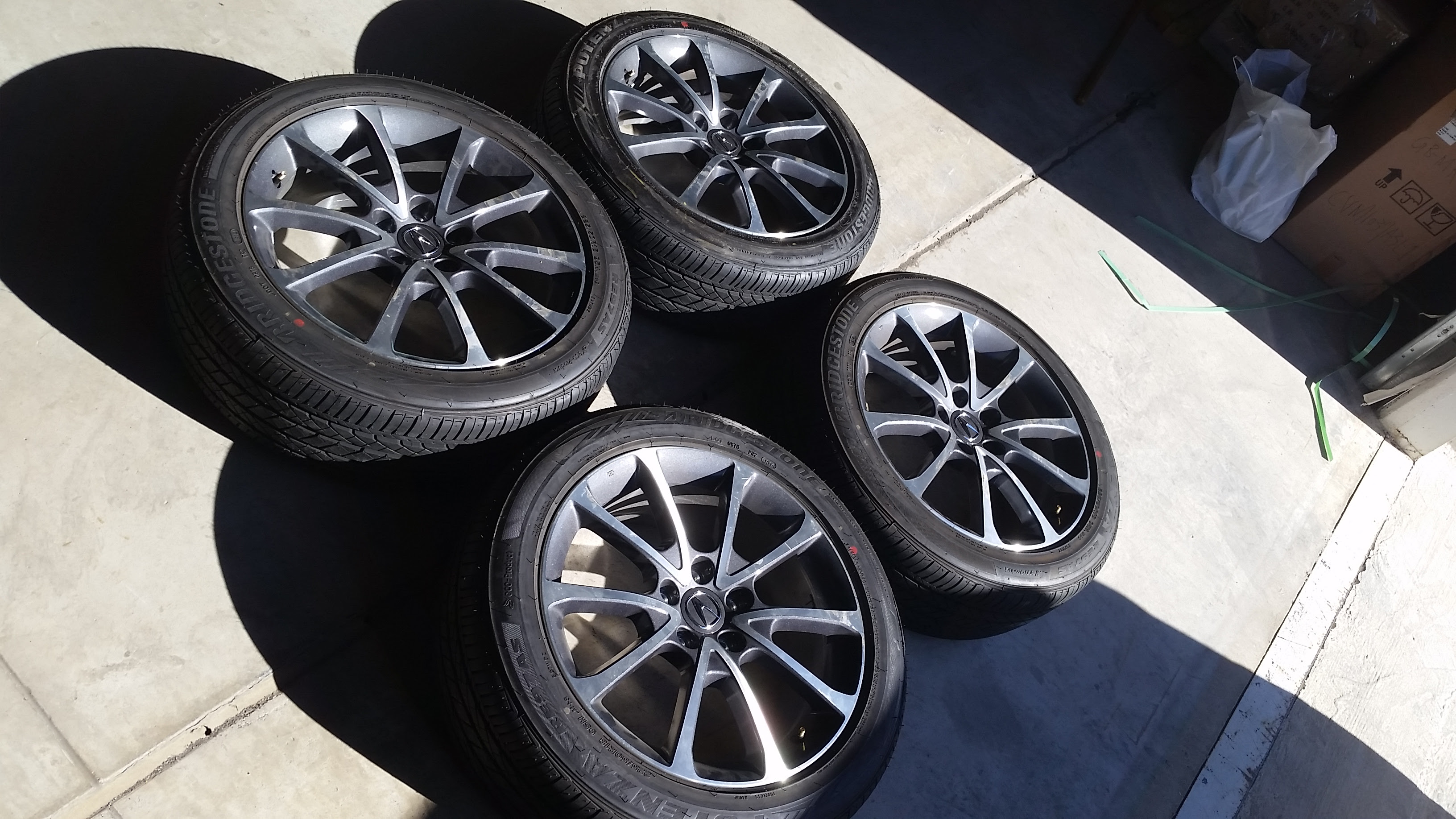 Sold 4x Acura Tlx 18 Enkei Wheels And Bridgestone Potenza Tires Acurazine Acura Enthusiast