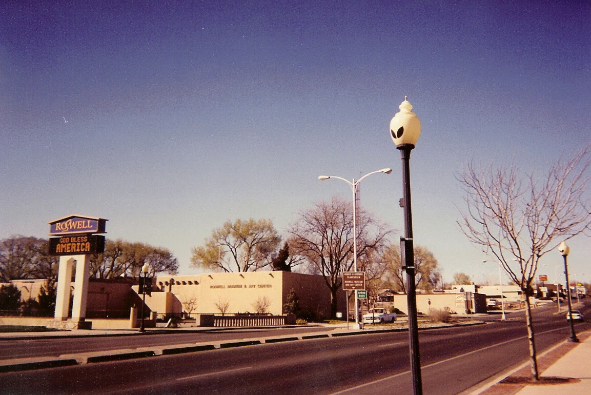 Alien Streetlamps, Roswell, New Mexico.