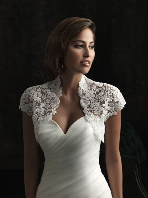 wedding gown with lace Bolero jacket   clothes I would