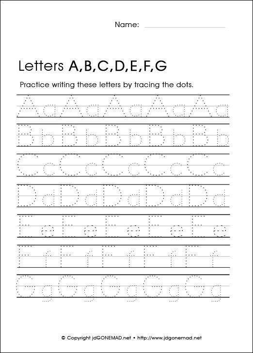 Alphabet Tracing Worksheets for Preschool and Kindergarten ...
