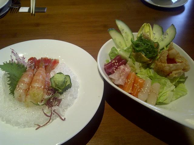 Spot Prawns and Salad