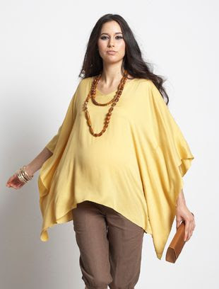 MEV Bianca Kaftan Top in Gold