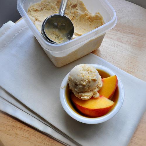 Peaches Honey and Cream Ice Cream