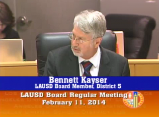 School board member Bennett Kayser voted against renewing two charters in his district