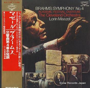 MAAZEL, LORIN brahms; symphony no.4 / academic festival overture