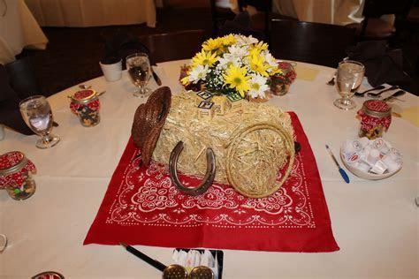Cowboy western table decorations centerpieces party