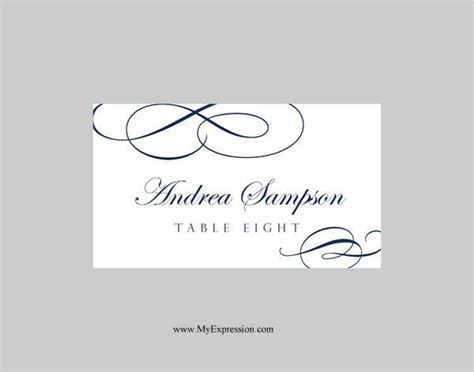 Wedding Place Cards Template (Folded) ? Calligraphic