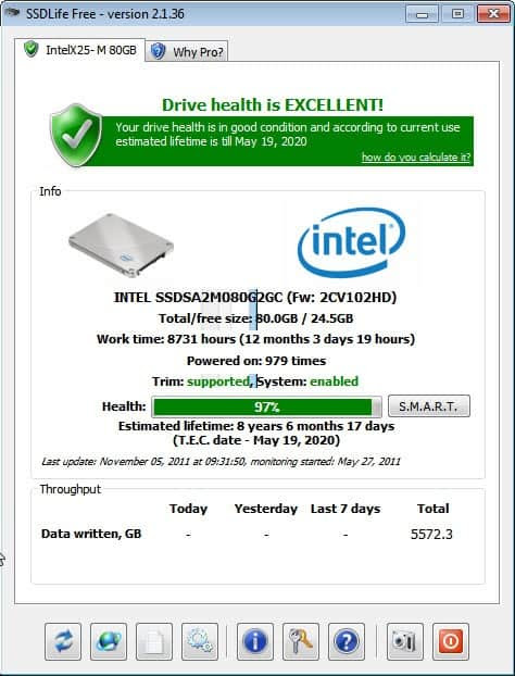 ssd drive health live expectancy