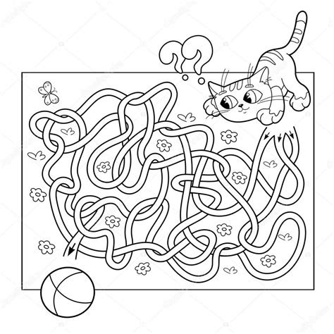 cartoon vector illustration  education maze  labyrinth