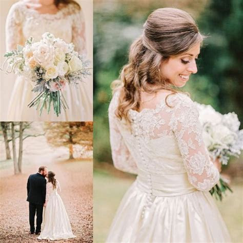 2015 Vintage Country Satin Wedding Dresses For Rustic