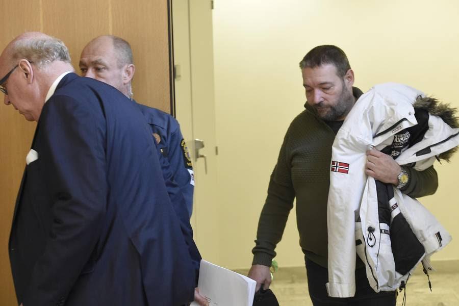 Danske Jim Tinndahn i retten i Malmø for nogle uger siden, hvor sagen mod ham startede. (Foto: Tomas Leprince/Expressen)